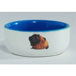 IPTS Миска керамическая с изображением морской свинки, голубая 160 мл