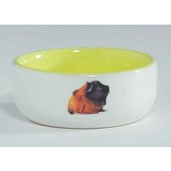 IPTS Миска керамическая с изображением морской свинки, желтая 160 мл