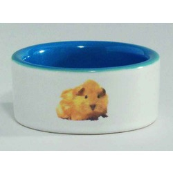 IPTS Миска керамическая с изображением хомяка, голубая 0,12 л