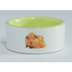 IPTS Миска керамическая с изображением хомяка, желтая 0,12 л