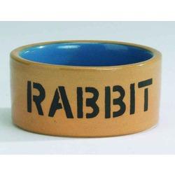 IPTS Миска керамическая для кролика, бежево-голубая 11,5 см
