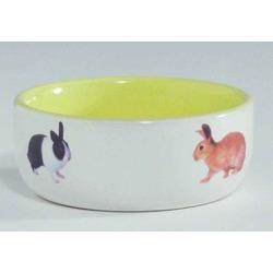 IPTS Миска керамическая с изображением кролика, желтая 300 мл