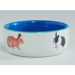 IPTS Миска керамическая с изображением кролика, голубая 300 мл