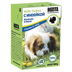 Bozita кусочки в желе с индейкой, 190 гр.