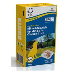 Bozita кусочки в желе с курицей и рисом, 480 гр.
