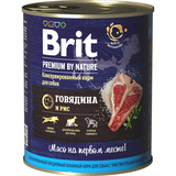 Brit Консервы с говядиной и рисом для взрослых собак всех пород склонных к полноте, 850 гр.
