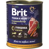 Brit Premium by Nature Консервы с говядиной и печенью для взрослых собак всех пород , 850 гр.