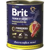 Brit Консервы с говядиной и пшеном для взрослых собак всех пород, 850 гр.