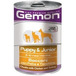 Gemon Dog консервы для щенков кусочки курицы с индейкой 415 гр.