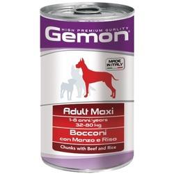 Gemon Dog Maxi консервы для собак крупных пород кусочки говядины с рисом 1250г