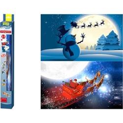 "Tetra Deco Art фон двухсторонний ""Санта-Клаус/Снеговик"""