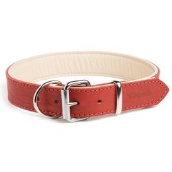 """Gripalle ошейник для собак """"Гросс"""", натуральная кожа, 2 слоя, цвет красный"""