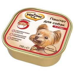 Мнямс консервы для взрослых собак с говядиной 150 г