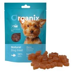 Organix лакомство для собак малых пород «Кубики из лосося», 50 гр.