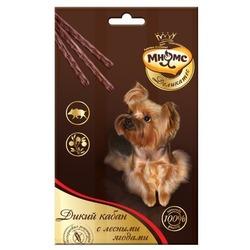 Мнямс Деликатес лакомые палочки 13,5 см для собак с мясом дикого кабана и лесными ягодами 3х11 г