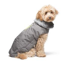 Куртка зимняя с меховым воротником и жёлтой молнией Tamarack Jacket Dog Gone Smart, цвет серый
