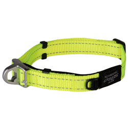 Rogz ошейник Utility с системой безопасности Quick Release Magnetic Collar, цвет лайм