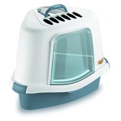 Stefanplast туалет закрытый угловой с угольным фильтром и совочком Sprint Corner Plus, синий, 40х56х40 см