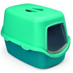 Stefanplast Туалет закрытый Cathy Trendy Colour, 56х40х40 см, бирюзово-голубой