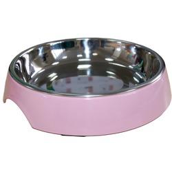 SuperDesign миска на меламиновой подставке для кошек широкая 250 мл, розовая.