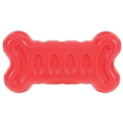 Zolux игрушка серия Бабл, кость, термопластичная резина, 19х10 см, красная