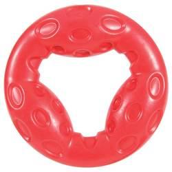 Zolux игрушка серия Бабл, кольцо с пищалкой, термопластичная резина, 18см, красная