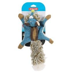 Zolux игрушка плюшевая без набивки с 2-мя пищалками «Белка-летяга», 38 см, цвет синий