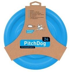 PitchDog летающий диск, диаметр 24 см, голубой