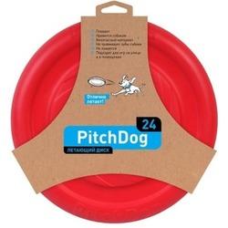 PitchDog летающий диск, диаметр 24 см, красный