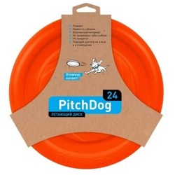 PitchDog летающий диск, диаметр 24 см, оранжевый