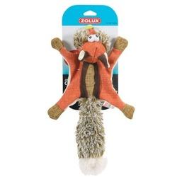 Zolux игрушка плюшевая без набивки с 2-мя пищалками «Белка-летяга», 38 см, цвет оранжевый