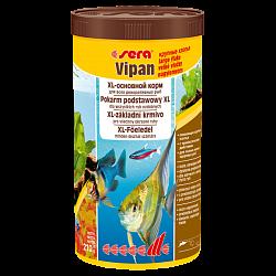 Sera Vipan основной хлопьевидный корм для всех видов рыб (крупные хлопья)