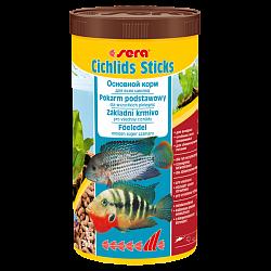 Sera Cichlids Sticks Основной корм, состоит из палочек для крупных всеядных цихлид