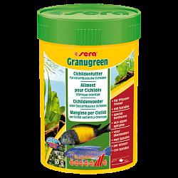 Sera Granugreen Основной корм, состоит из гранул для растительноядных цихпид