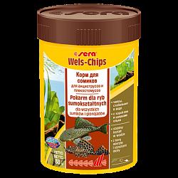 Sera Wels Chips Корм для сомиков, соскабливающих корм, и для сомов со ртом в виде присоски