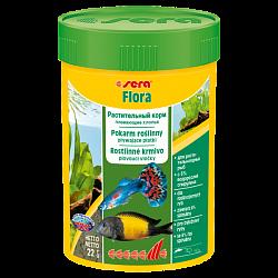 Sera Flora Растительный корм – плавающие хлопья – для растительноядных рыб