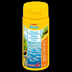 Sera Micron Медленно тонущий пылевидный корм с высокой поедаемостью для выращивания самых маленьких аквариумных животных (артемия, личинки рыб и земноводных)
