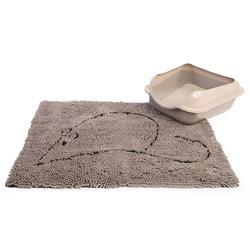 Dog Gone Smart Супервпитывающий коврик для кошек, 58,5х40,5 см, цвет серый