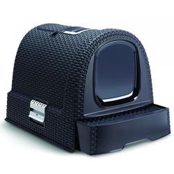 Curver PetLife Туалет-домик для кошек, с фильтром и дверкой цвет темно-серый