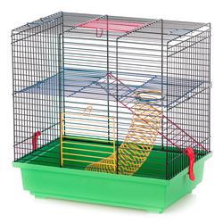 Inter-Zoo клетка для грызунов TEDDY I COLOUR + EQUIPMENT, размер 36х24х36 см