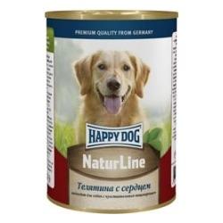 Happy Dog Телятина с сердцем консервы для взрослых собак, 400 гр.