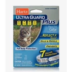 Hartz ошейник от блох и клещей для кошек и котят, белый со светоотр. полосой, на 7 месяцев, UltraGuard Plus Flea & Tick Collar with Reflect-X Shield