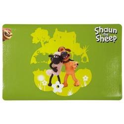 "Trixie Коврик под миску ""Shaun the Sheep"", 44 х 28 см, зелёный"