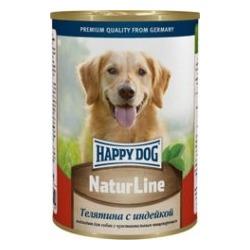 Happy Dog Телятина с индейкой консервы для взрослых собак, 400 гр.