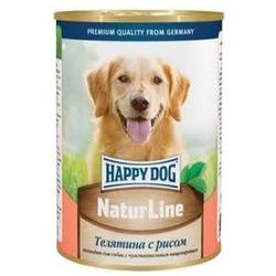 Happy Dog Телятина с рисом консервы для взрослых собак, 400 гр.