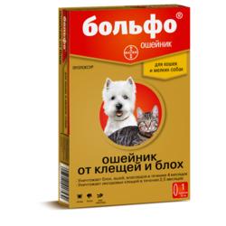 Bayer Bolfo ошейник от блох и клещей для собак, 38 см