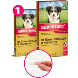 Bayer Advantix капли от блох и клещей, для собак от 10 кг до 25 кг