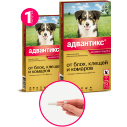 Bayer Advantix Адвантикс капли от блох и клещей, для собак от 10 кг до 25 кг