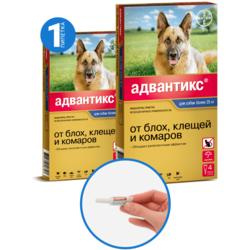 Bayer Advantix капли от блох и клещей, для собак от 25 кг до 40 кг