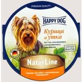 Happy Dog Курица и утка консервы для взрослых собак, 85 гр х 11 шт